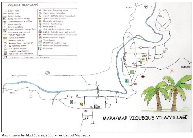 A map of Viqueque.