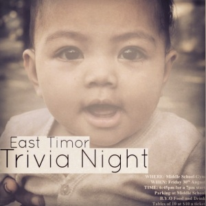 East Timor Trivia Night 30th August 2013 from 7:00pm