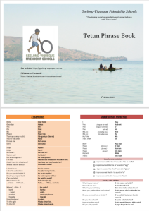 Screenshot, first page, GVFS Tetun Phrase Book